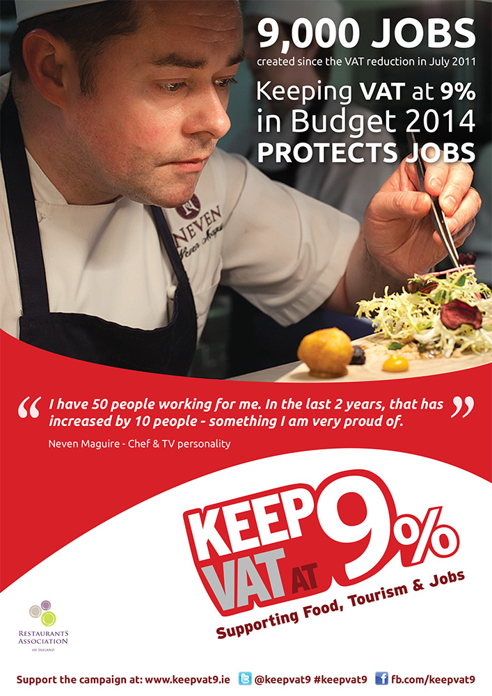Restaurants Association of Ireland 9% VAT Campaign