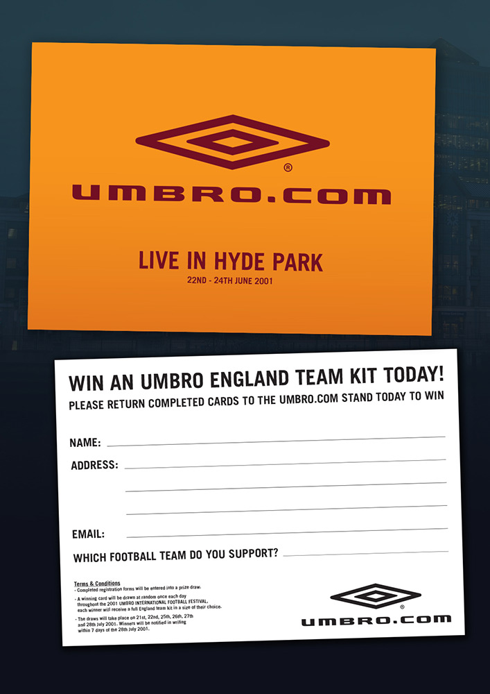 UMBRO Campaign Postcard