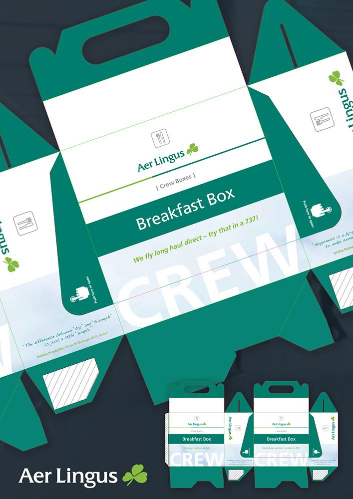 Aer Lingus Crew Box Package Design