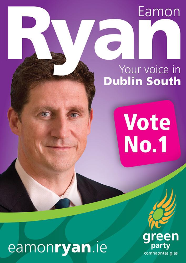 Green Party- 2011 Election - Eamon Ryan Poster