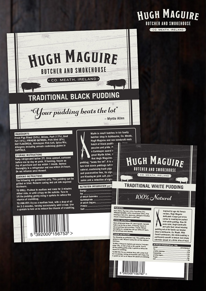 Hugh Maguire - The Smokin' Butcher Package Design