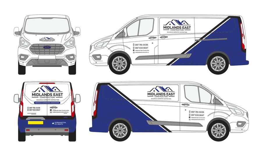 Midlands East Construction Vehicle Wrap