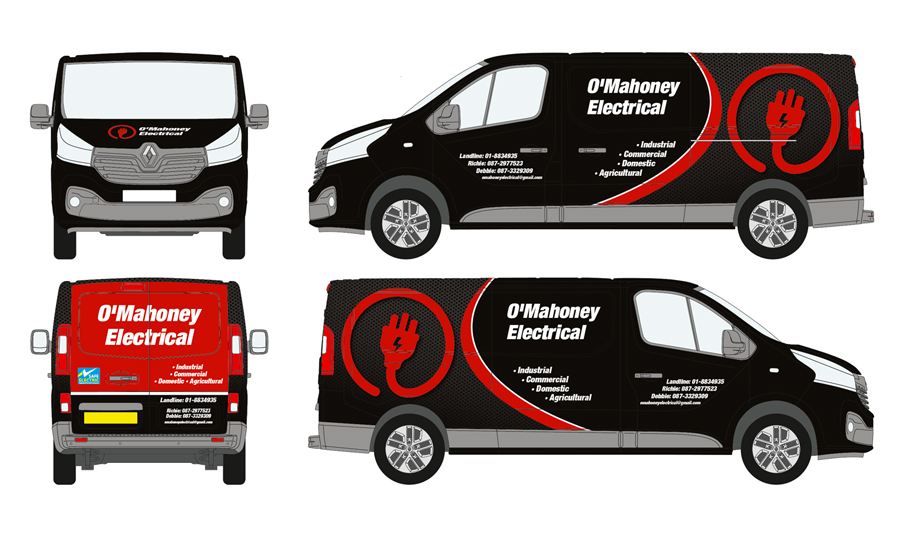 O'Mahoney Electrical Vehicle Wrap