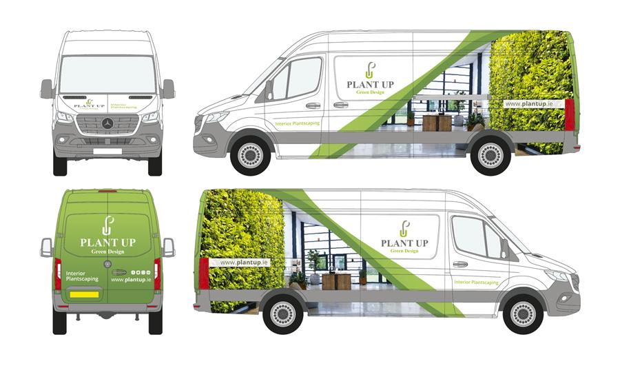Plant Up Vehicle Wrap