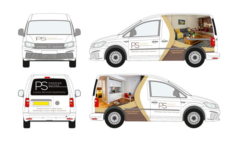 Premier Suites Vehicle Wrap