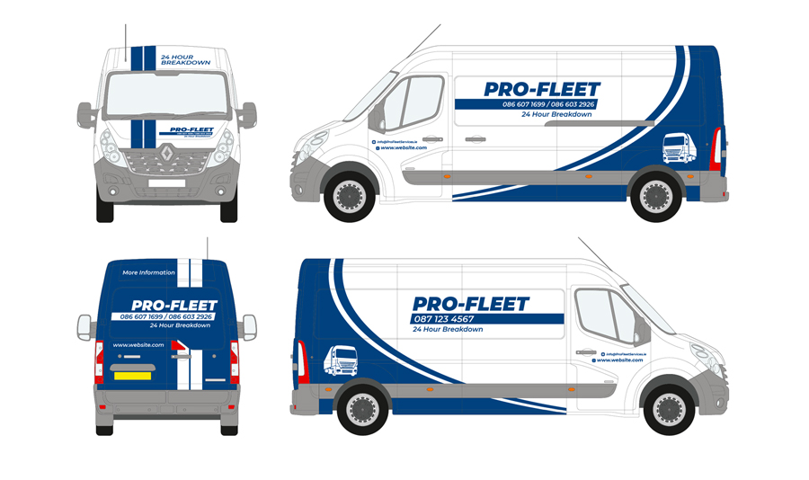 Pro Hire Truck Rental Vehicle Wrap 01