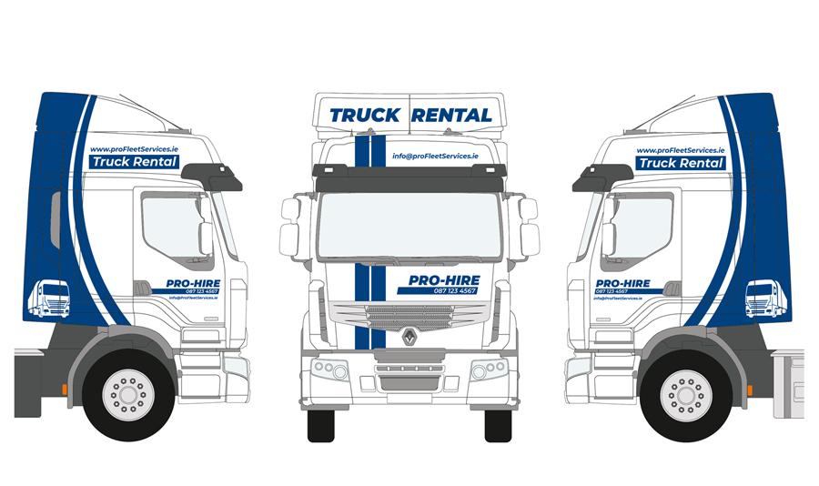 Pro Hire Truck Rental Vehicle Wrap 02