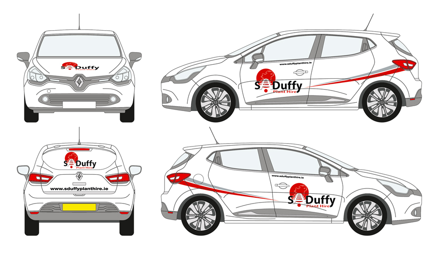 S Duffy Plant Hire Vehicle Wrap 01