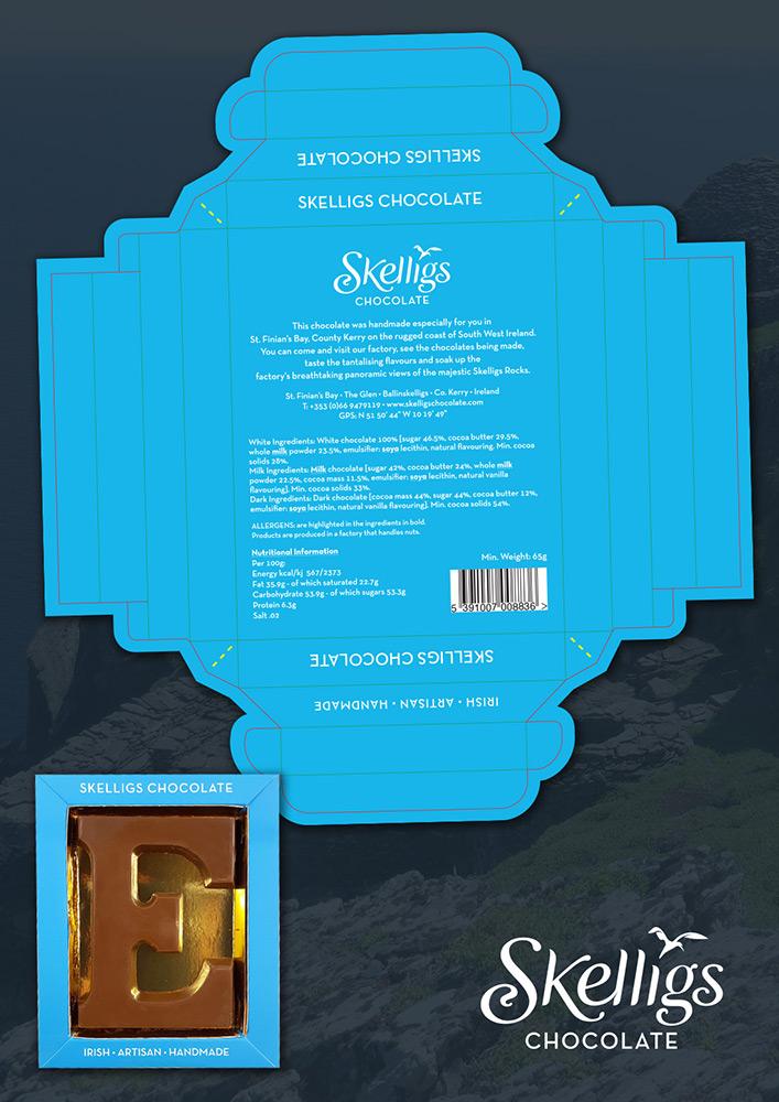 Skelligs Chocolate Package Design