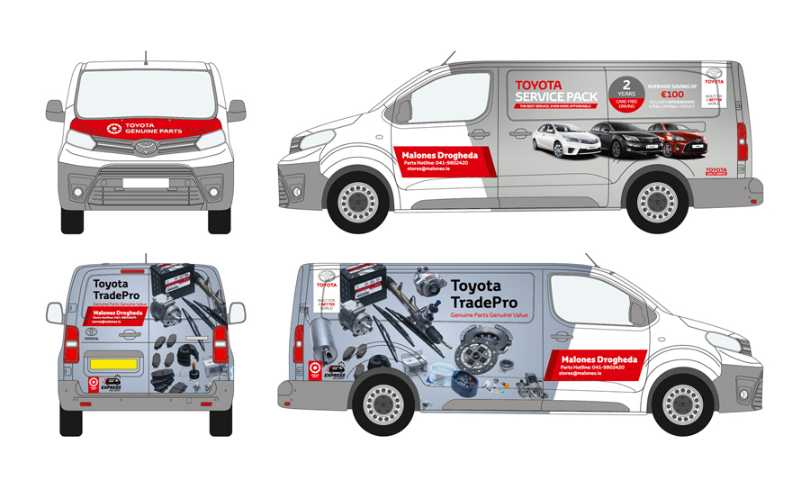 Toyota Vehicle Wrap
